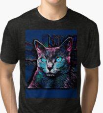 CAT MULTICOLOR Tri-blend T-Shirt