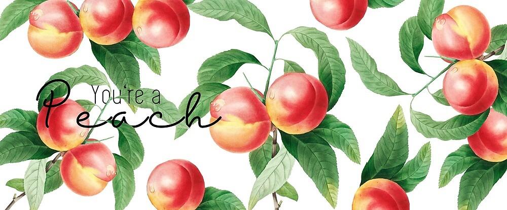 You're a peach mug - vintage peaches  by smfrye