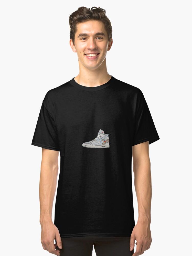 9d23b9e30b4168 Off-white Jordan 1 Classic T-Shirt. Designed by ArtsYessi