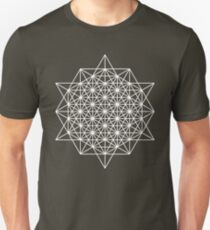 64 cell grid (dark background) Slim Fit T-Shirt