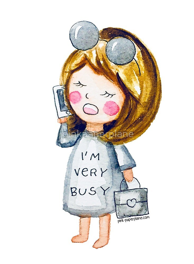 I am very busy, from Stella's Adventure Series, illustration by Pink Paperplane by pinkpaperplane