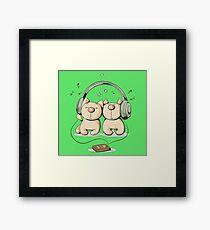 Cats & music Framed Print