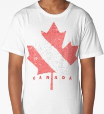 Scuba Dive Flag Canada Art Long T-Shirt