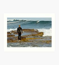 Dee Why Surfer - The Wait Art Print
