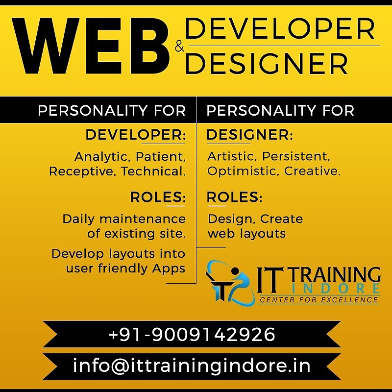 web designing course in indore by IT Training Indore