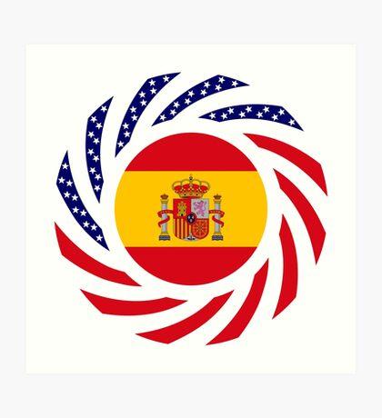 Spanish American Multinational Patriot Flag Series Art Print