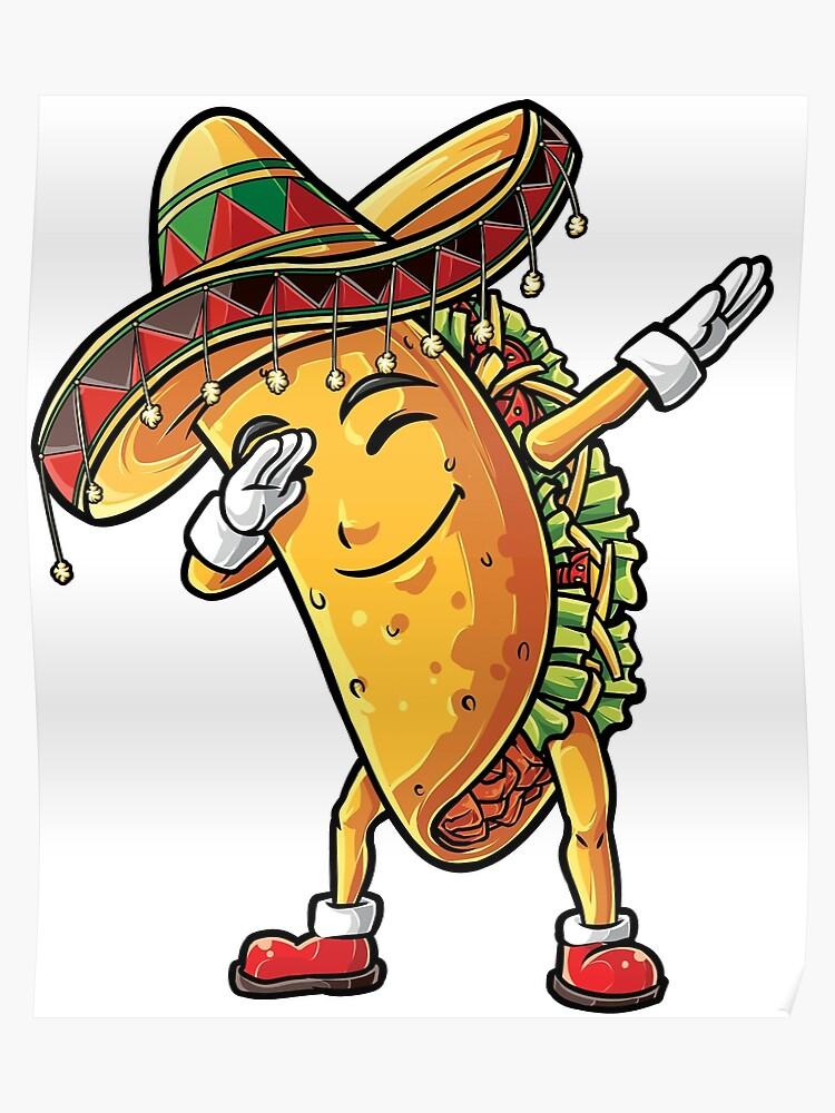 37453c55 Dabbing Taco T Shirt Cinco de Mayo Kids Boys Men Women Girls