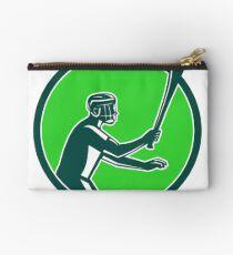 Hurling Player Icon Retro Studio Pouch