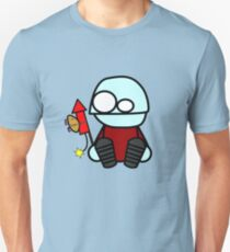 Monty sends the hamster to space Unisex T-Shirt