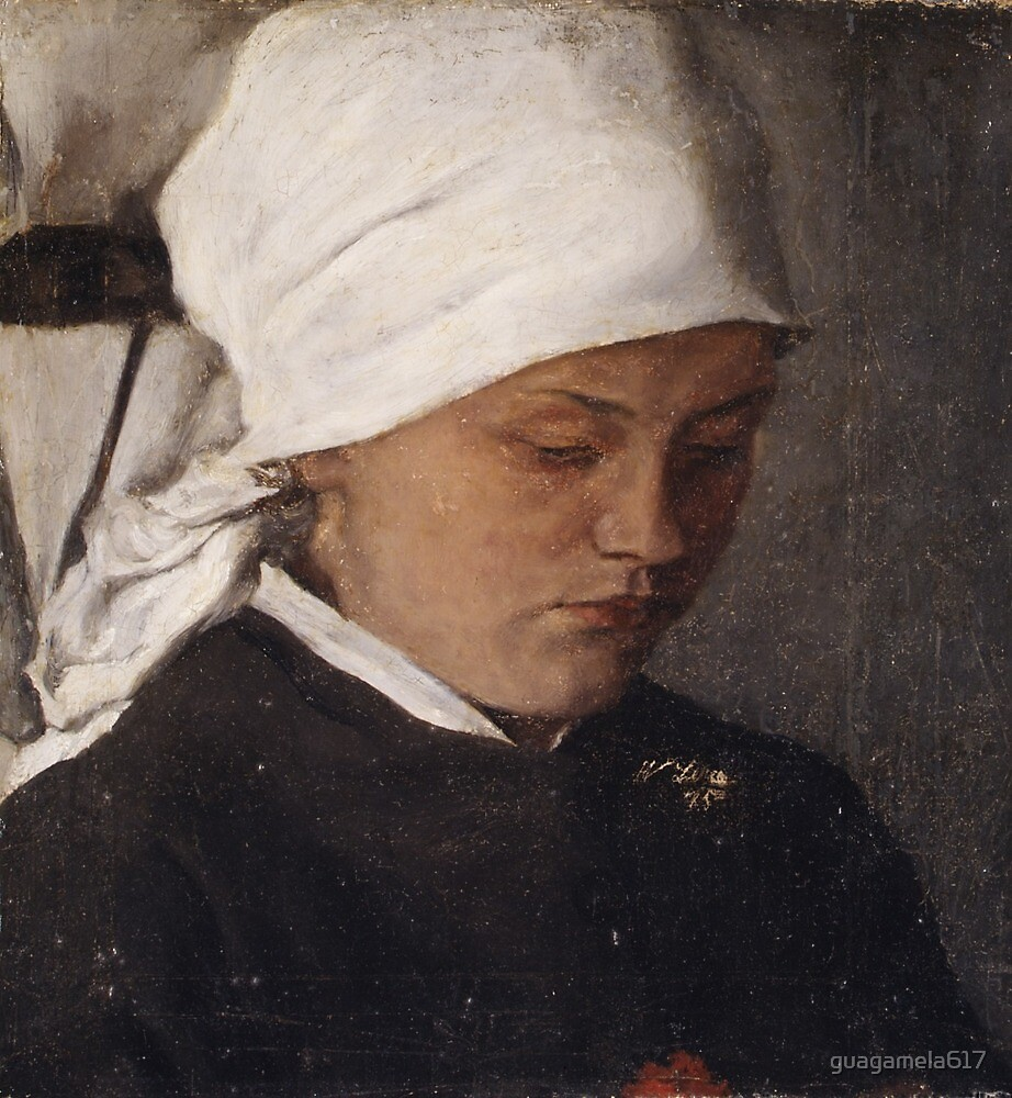 Peasant Girl with a White Headcloth by guagamela617