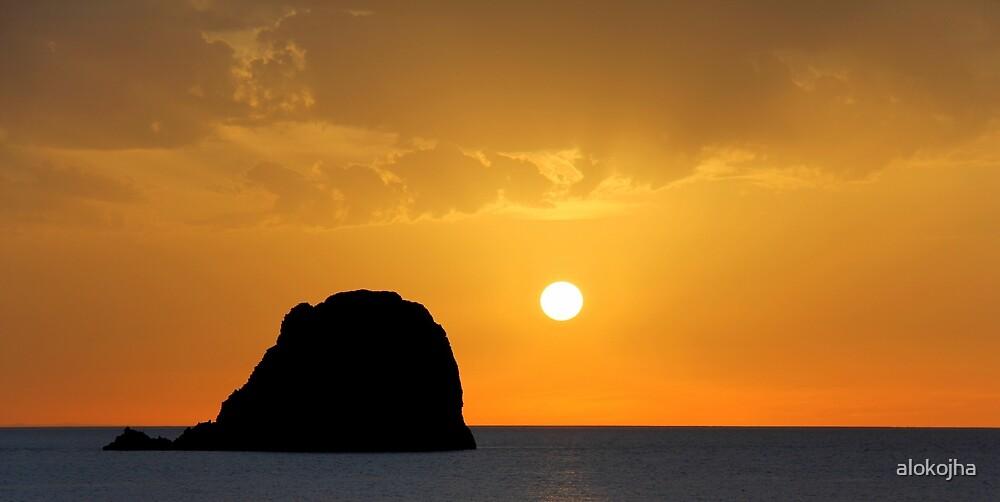 Sunset in Greece by alokojha