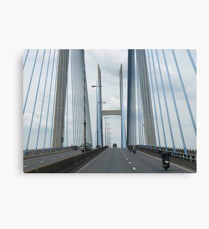 My Thuan Friendship Bridge - Australia-Viet Nam - Mekong Delta area,Vietnam Canvas Print