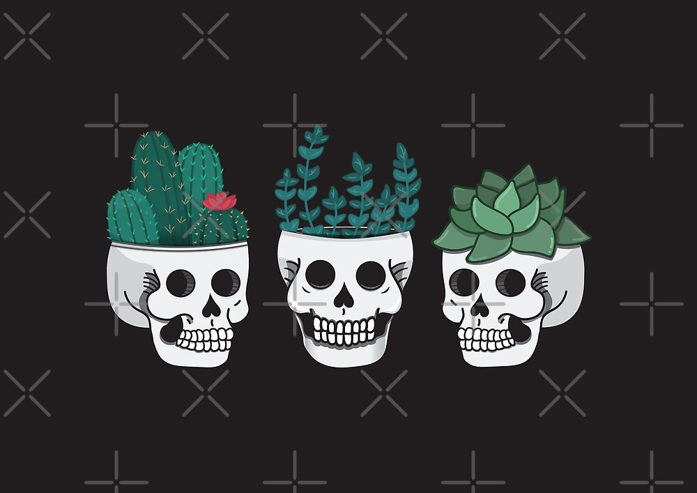 Skull Plants Trio by Bonnabell .