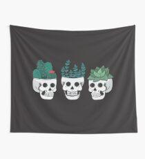 Skull Plants Trio Wall Tapestry