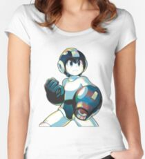 Mega Man Mega Buster - Type A Women's Fitted Scoop T-Shirt