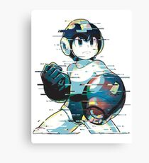 Mega Man Mega Buster - Type C [Glitch Remix] Canvas Print