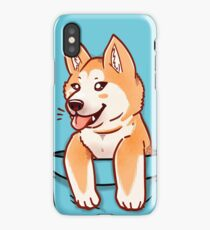 Pocket Cute Akita Puppy iPhone Case/Skin