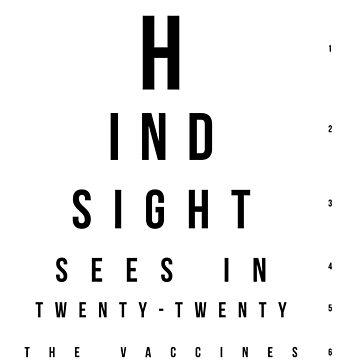 The Vaccines // 20/20 Eye Test design by DesignedByOli
