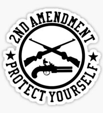 2nd Amendment Protect Yourself Sticker