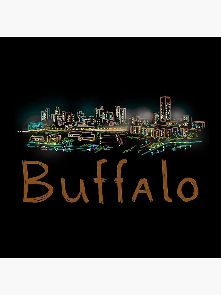 Buffalo City Panorama in der Nacht von MichaelRellov