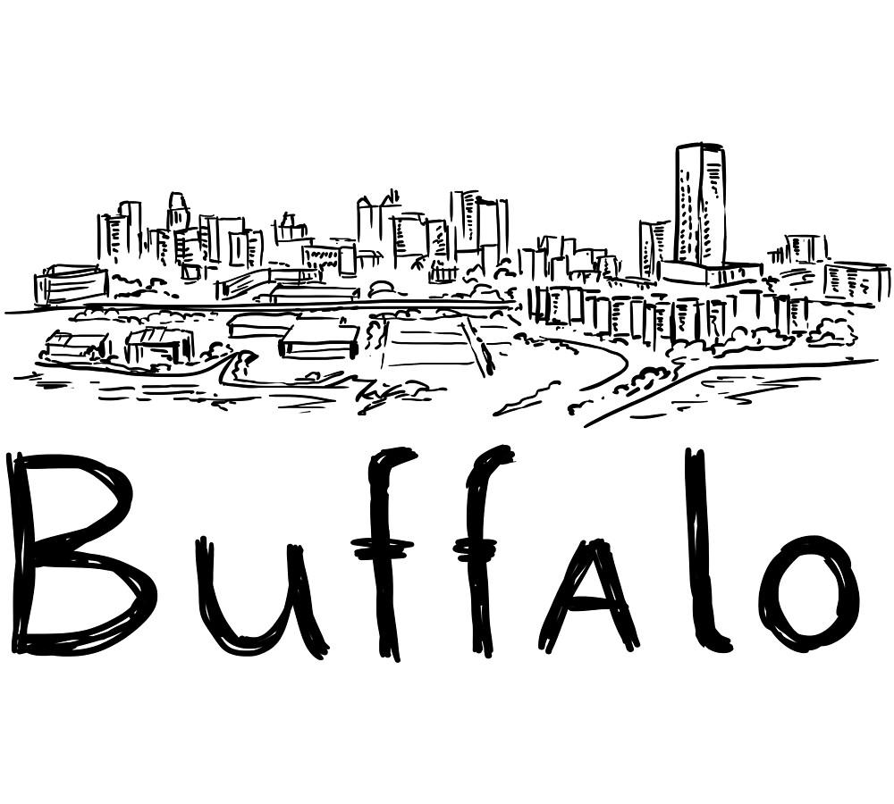 Buffalo City Panorama black by MichaelRellov