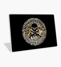 Second Amendment with Skull and Bullets Laptop Skin