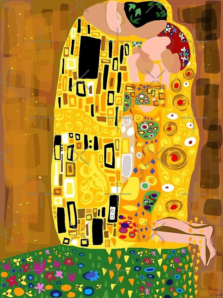 Klimt's Kiss Digital by ludvigstudio
