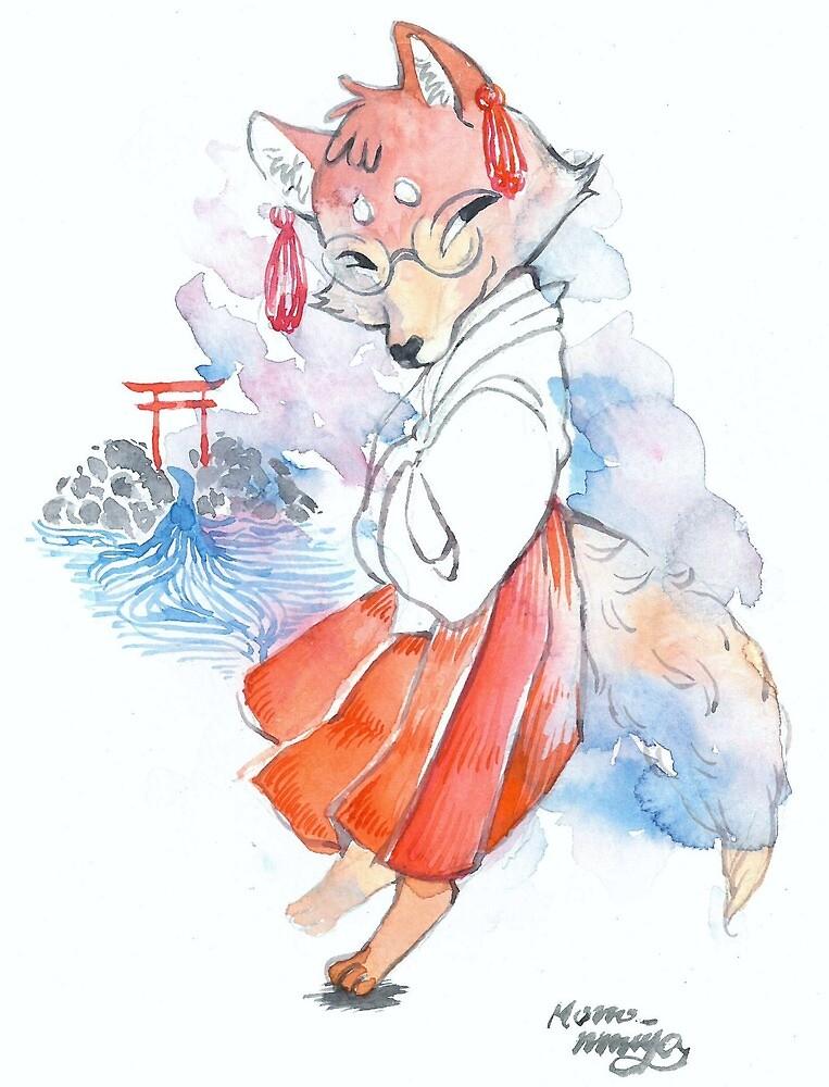 Kiyoto Hushimi - Japanese Fox by momoninomiya