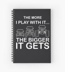 Cuaderno de espiral Cuanto más juego con él, más grande se vuelve.