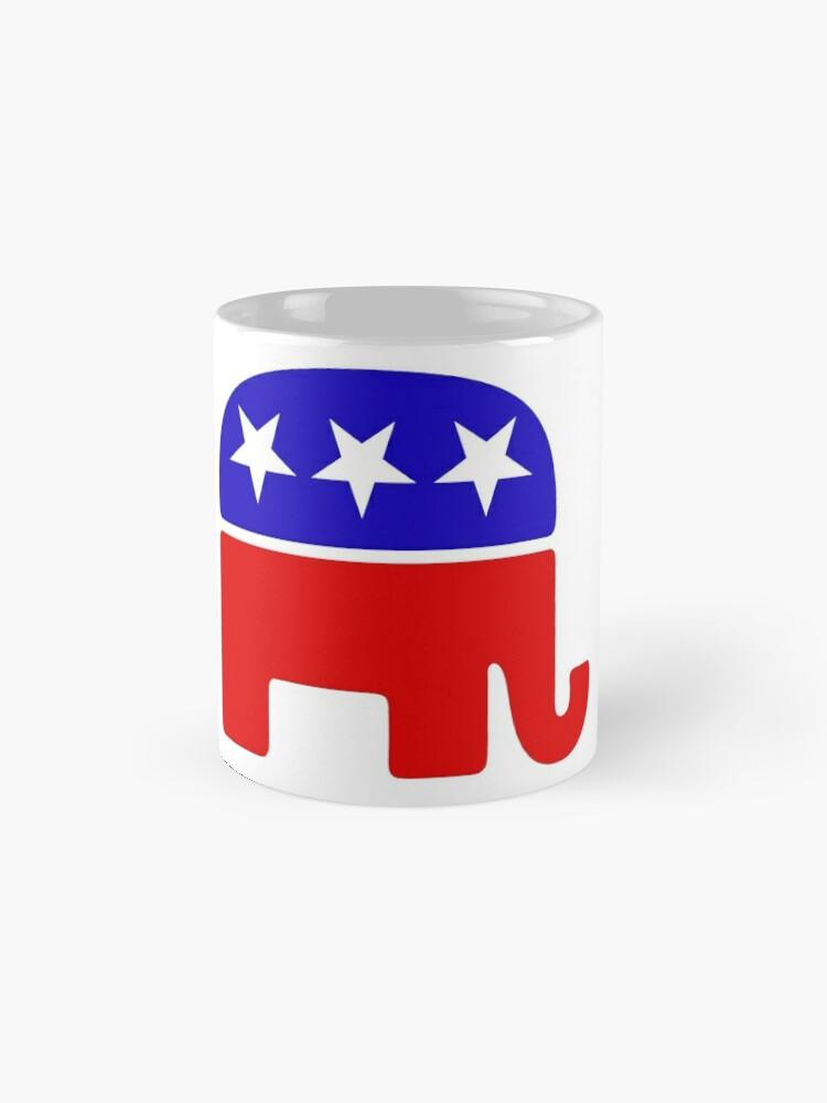 Vista alternativa de Taza Elefante republicano