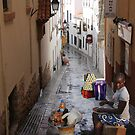 A trader from Marina, Lagos in Sitges, Spain. by Wonuola Lawal