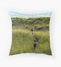 running to water Throw Pillow