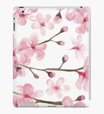 Cherry Blossom watercolor fashion and home decor by Magenta Rose Designs iPad Case/Skin