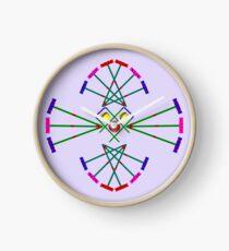 Croquet - Mallets,Balls and Hoops Design Clock