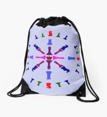 Chess Piece Design Drawstring Bag