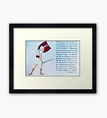 God's Armour Framed Print