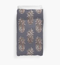 Rose Gold Sparkle Pineapple Duvet Cover