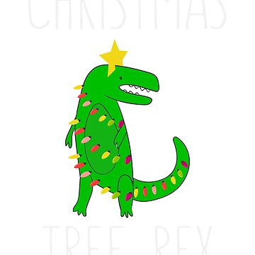 Christmas Tree Rex - Funny Christmas Gift T Rex Lovers Gift by lookhumandesign