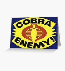 G.I. JOE - COBRA ENEMY! - BLISTER Greeting Card