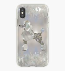 Luxury Pearl and Abalone Poodle  iPhone Case