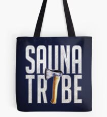Sauna Tribe - Stacked Axe Wordmark Tote Bag