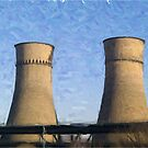 Tinsley Cooling Towers - Oil effect by Glen Allen