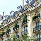 French balconies in Paris, France by Robert Elfferich