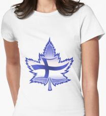 Finnish Canadian Women's Fitted T-Shirt