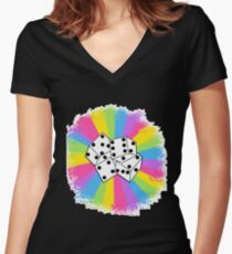 Dice! :) Women's Fitted V-Neck T-Shirt