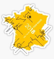 Tour de France Route 2018 Sticker