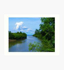 Calatrava River, Negros Occ., Philippines Art Print