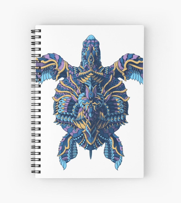 Cuadernos de espiral «Tortuga marina (Versión en color)» de BioWorkZ ...
