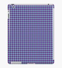 Pink Blue Traditional Tartan iPad Case/Skin