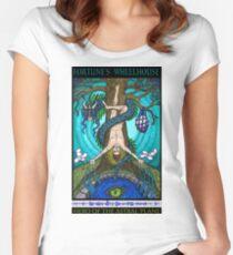Fortune's Wheelhouse Tabula Mundi Tarot Hanged Man tee Women's Fitted Scoop T-Shirt
